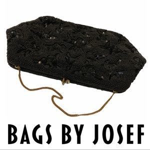 Vintage 1950s Bags by Josef Beaded Evening Bag